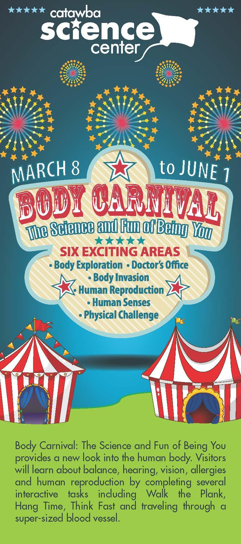 Body Carnival Rack Card front