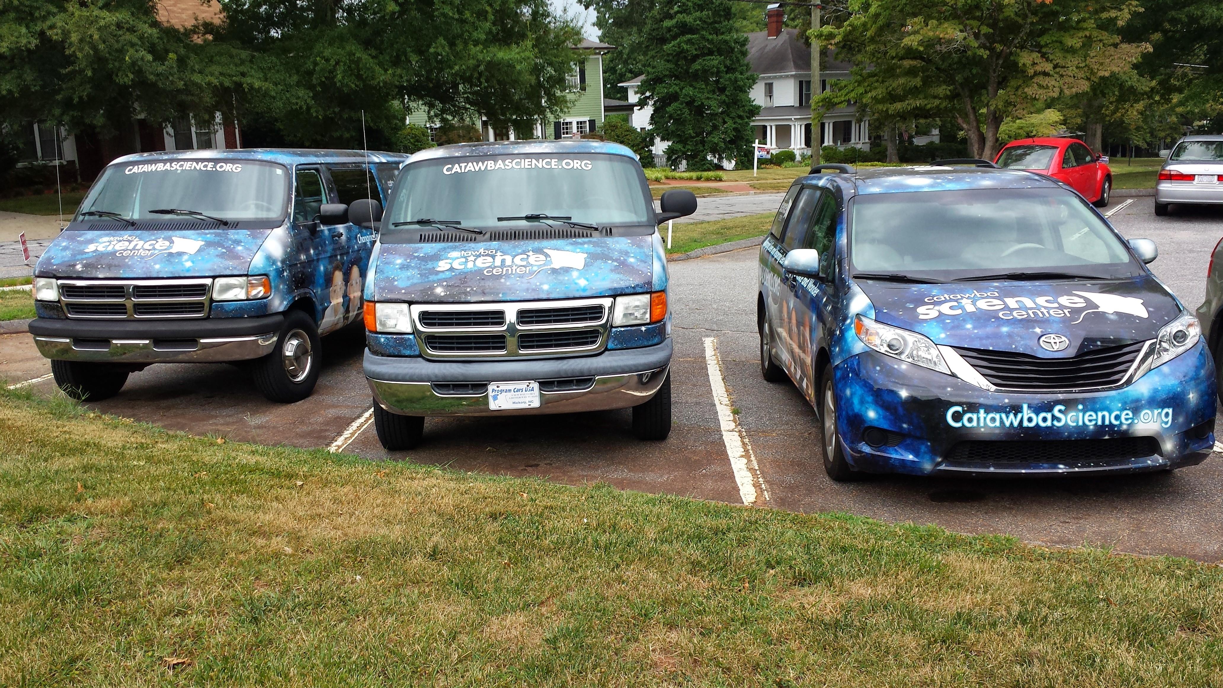 Three CSC vans